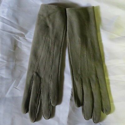 Victorian Men's Gray Leather Gloves, Never Been Worn, late 1800's, Antique