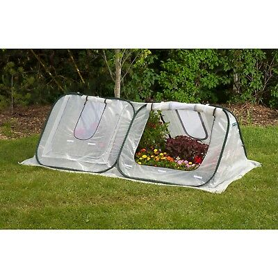FLOWER-STARTER HOUSE LOW-TUNNEL COLD-FRAME STYLE GREENHOUSE 2.8'H x 8'W x 4'D,