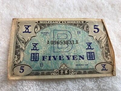 WW2 Pacific Islands MILITARY CURRENCY  3 Notes