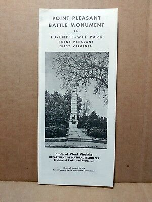 1960s Point Pleasant Battle Monument Travel Brochure West Virginia Tu-Endie-Wei