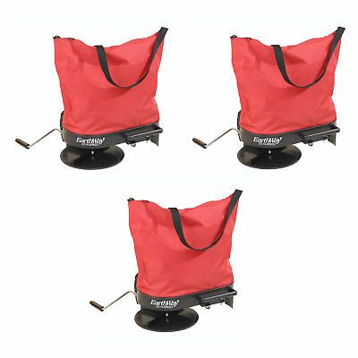 Earthway Hand Crank Garden Seeder Adaptable Seed & Fertilizer Spreader (3 Pack)