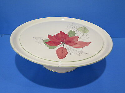 Block Spal POINSETTIA Footed Cake Plate