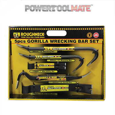 Roughneck ROU64961DB Gorilla Wrecking Bar 5pc Set - 64961
