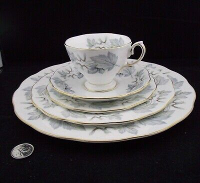 Royal Albert Silver Maple 5 Pc Place Setting Dinner Salad Bnb Plate Cup&Saucer
