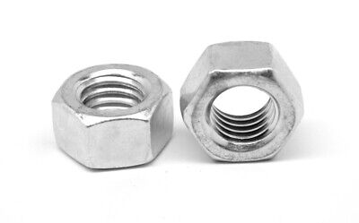 "7/16""-20 Fine Thread Finished Hex Nut Stainless Steel 18-8"