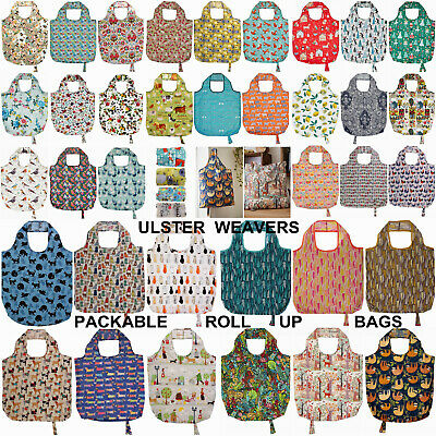 Ulster Weavers Packable Roll Up Re-usable Shopping Bags Various Designs Cat Dog