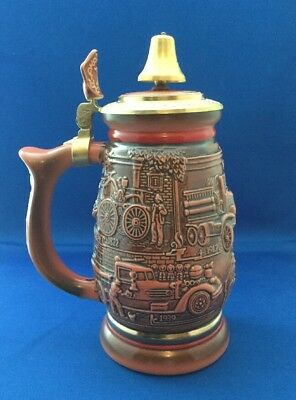 Tribute To American Firefighters Beer Stein By Avon Vintage Collectible Piece