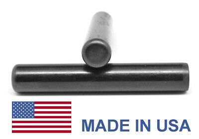 1/2 x 1 Dowel Pin Hardened & Ground - USA Alloy Steel Ebony Finish
