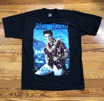 d244d5067ad Men s Vintage Elvis Presley T-Shirt Size XL Blue Hawaii Made In USA Rare  BNWOT