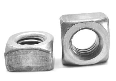 "1 1/4""-7 Coarse Thread Grade 2 Regular Square Nut Plain Finish"