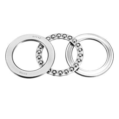 51112 Single Direction Thrust Ball Bearings 60mm x 85mm x 17mm Chrome Steel