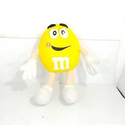 """Yellow Peanut M&M Collectible 16"""" Yellow Plush Poseable Peanut MM Candy Toy"""