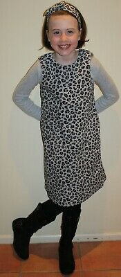 New With Tags GYMBOREE Size 12 TRES FABULOUS Snow Leopard DRESS + HEADBAND Set