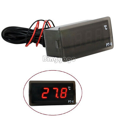 220V PT-6  -50 ℃ ~ + 110 ℃ Digital Thermometer Temperature Meter Aquarium Sensor