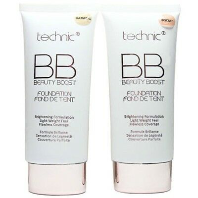 Technic BB Cream Beauty Balm Boost Brightening Foundation 30ml*Choice Of Shades*