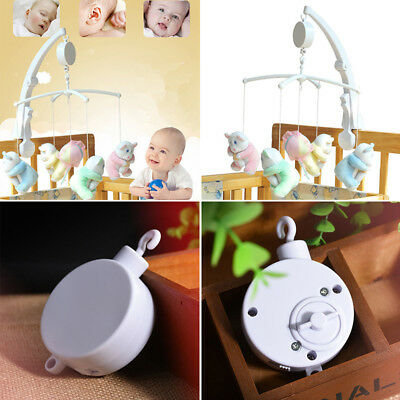 Bed Movement Crib Baby Infant Box Mobile Rotary Music Clockwork Songs Bell Cord