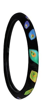 Peacock Steering Wheel Cover Black Color Very Colorful