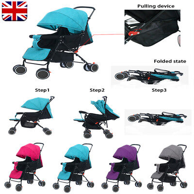 Sport Pushchair Umbrella Lightweight Baby Raincover Stroller Buggy From Birth Uk