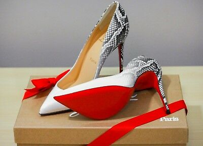 buy online 4ac64 ab167 NIB CHRISTIAN LOUBOUTIN Pigalle Follies 100mm White Degrade Patent Heel  Pump 36