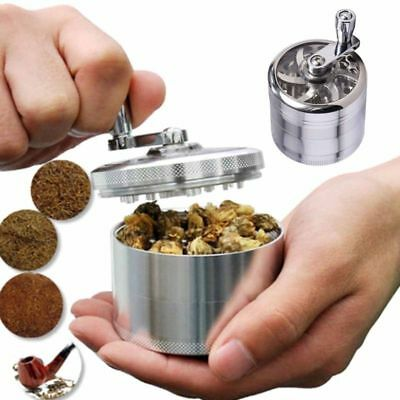 1x 4-Layers Herb Grinder Spice Tobacco/Weed Smoke Metal Crusher Leaf Design