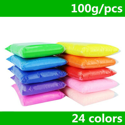 Retail 100g/bag 24 colors DIY safe and nontoxic Malleable Fimo Polymer Clay