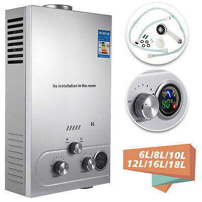 6L/8L/10L/12L/16L/18L Gas Stainless Tankless Instant Hot Water Heater Boiler