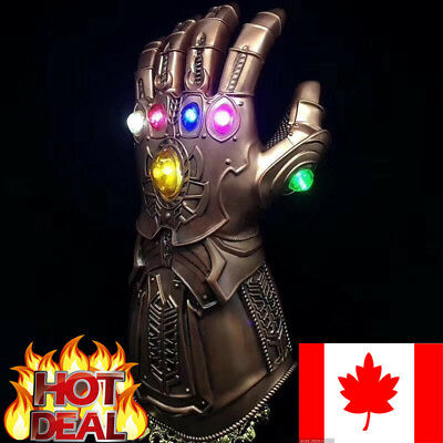 Thanos Infinity Gauntlet Infinity War LED Light Gloves The Avengers Prop Cosplay