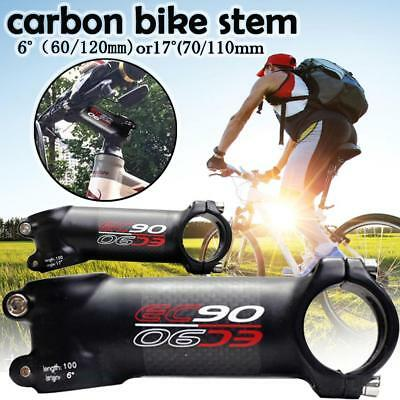 31.8mm Cycling Bicycle MTB Bike Aluminium Alloy Handlebar Stem Black 6/17 Degree