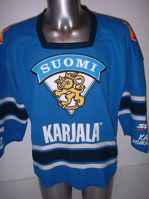 Finland Suomi Adult Medium Olympics Ice Hockey Shirt Jersey NHL Top Vintage 128e67cdb