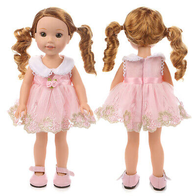 """2pcs Fits for 14"""" American Girl Lovely Fashion Clothes Lace Princess Skirt"""