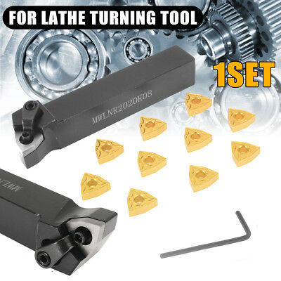 MWLNR2020K08 Lathe Turning Tool Holder with 10pcs  WNMG080404 Carbide Inserts