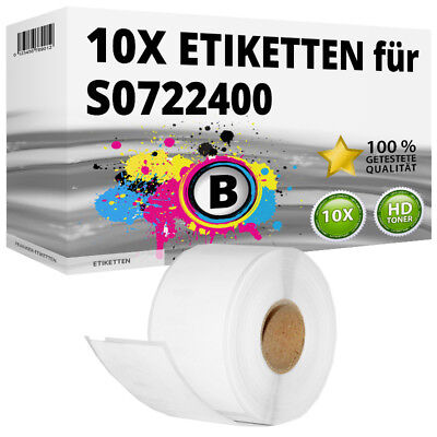 10x Etiketten für Dymo 99012 LabelWriter 310 320 330 Series 400 Duo 450 Turbo