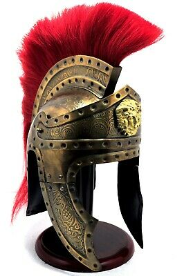 300 Movie Spartan King Medieval Halloween Gift Brass Antique Roman Helmet
