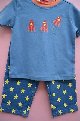Sprout baby boy Sz 1 summer pyjamas pjs sleepwear BNWT blue new spaceship