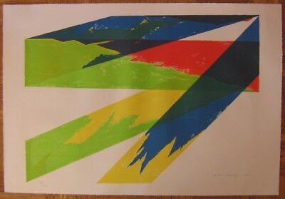 """Orig. Sign. Joan Miro Farblithografie """" Yellow and Green """" Abstrakt Nr. 13/100"""