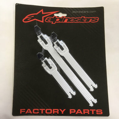 NEW Alpinestars MX Boot Spares - 2018> YOUTH Tech 3S Boot Strap Kit - White