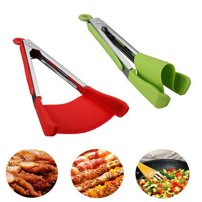 Clever Tongs 2 in 1 Kitchen Food Spatula And Tongs Non Stick Heat Resistance