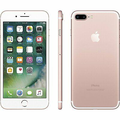 """Apple iPhone 7 Plus 5.5"""" 128GB ROSE GOLD GSM Unlocked AT&T T-Mobile Smartphone"""