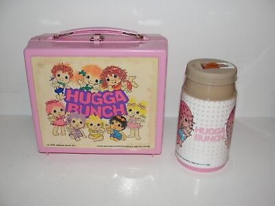 1980s Vintage HUGGA BUNCH Lunch Box WITH THERMOS