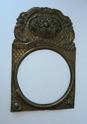 """Antique French Brass Clock Face Surround 9"""" Face"""