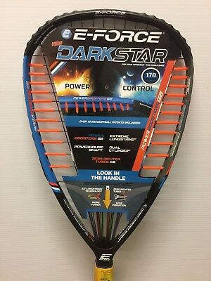 E-Force Darkstar 170 Racquetball RacquetBrand New l!! With Warranty, 3 5/8 grip