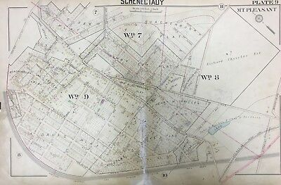 1905 Mt Pleasant Schenectady Ny St John's R.c. Church Third Ave School Atlas Map