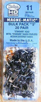 Kadee #11 #0011  (#5 Magne-Matic(R) Couplers 20 Pair (We Combine Ship)