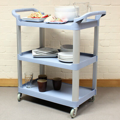 Grey Medium 3 Tier Kitchen/Hostess Catering Trolley/Cart Tea/Drink/Dish Caddy