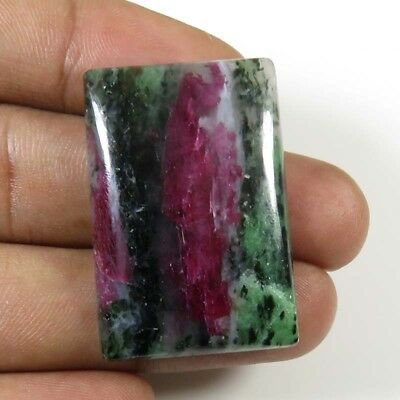 RUBY ZOISITE CABOCHON OCTAGON NATURAL LOOSE GEMSTONE 43.00Cts. 34x23mm. RZ-24