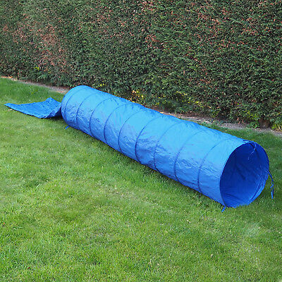 Outdoor 5M Dog/Puppy Agility Training Tunnel & Carry Bag Obedience/Garden Play