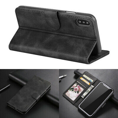Case for Apple iPhone XS 6 7 8 5S SE Plus Cover Real Genuine Leather Flip Wallet