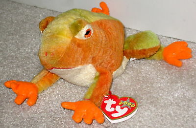 32679d09140 2000 Ty Beanie Baby Frog Prince Beanbag Plush Stuffed Animal Retired With  Tags
