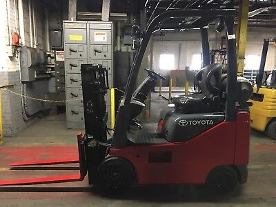 2013 Toyota 3000 Lb  Forklift with Truckers Mast