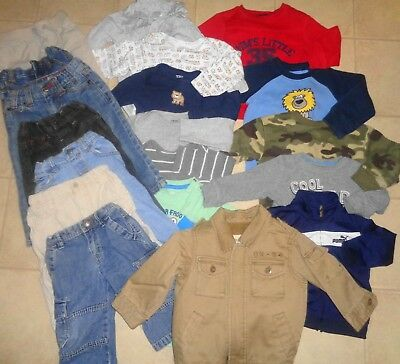 45d7aff1f62e Huge Lot Of Boys Clothes Winter Old Navy Puma Jeans Jacket Outfits Size 12- 18